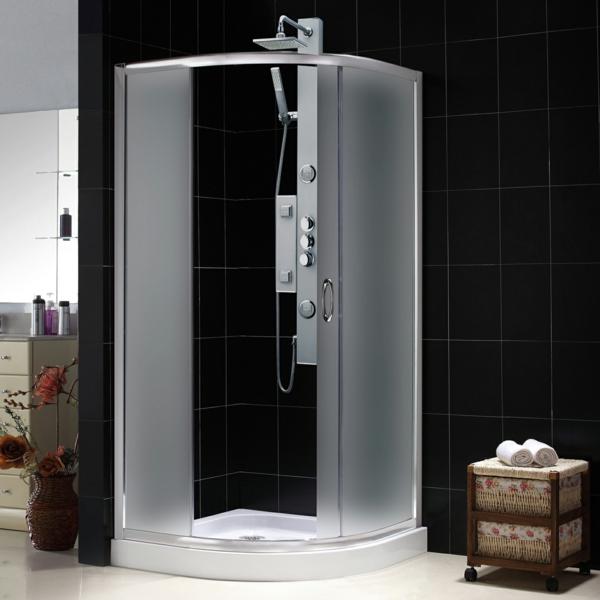 duschkabine duschpaneele eckkabine milchglas schiebetüre