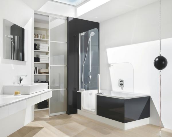 duschkabine glastrenner badewanne kombination
