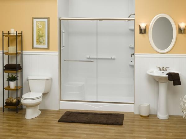 duschkabine großzügig modern landhaus