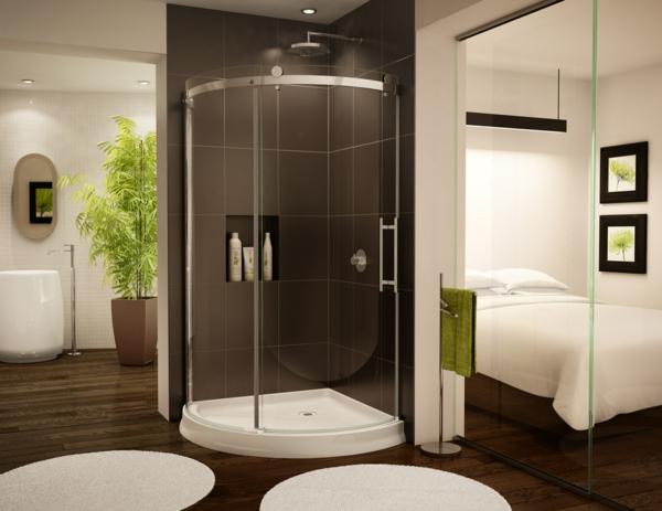 duschkabine modern minimalistisch ecke