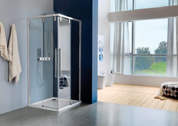 duschkabine modern rechteckig aluminium