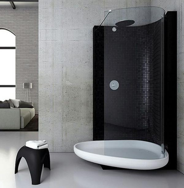 duschkabine oval glastrenner regendusche