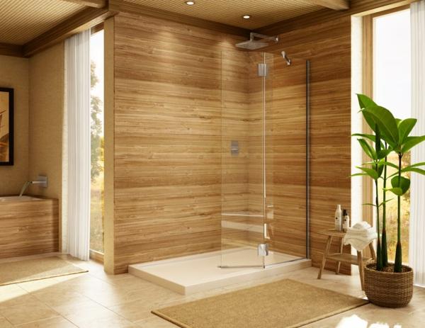 duschkabine regendusche quadratisch glastrenner