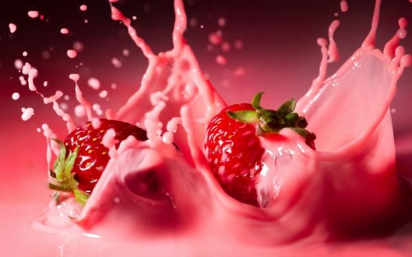 erdbeeren gesund frische nachtisch milch