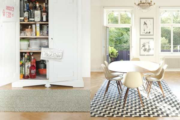 esszimmer läufer teppich kunststoff  brita sweden designer teppiche