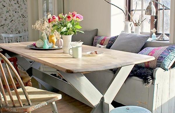 shabby chic deko dem raum einen sanften und femininen look verleihen. Black Bedroom Furniture Sets. Home Design Ideas