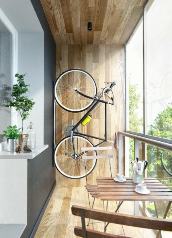 fahrrad ständer balkon aufhängen balkonmöbel
