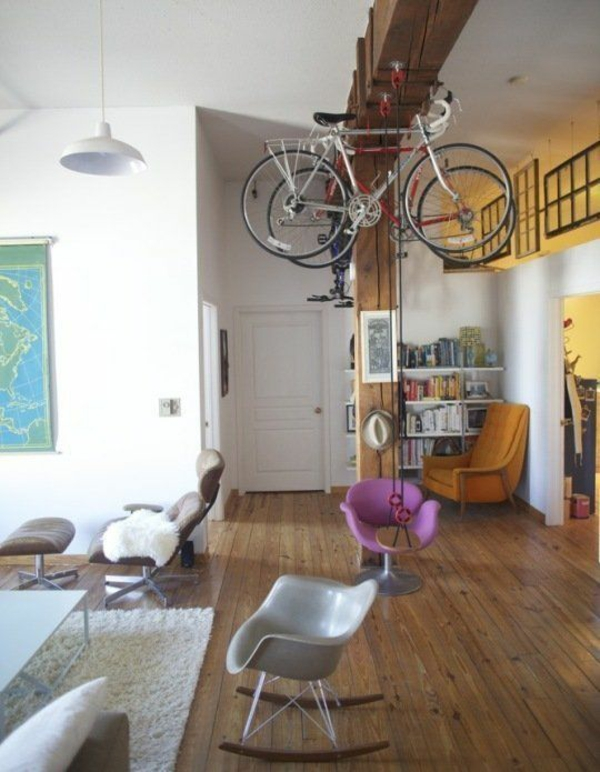 fahrrad ständer design kreative wohnideen zuhause