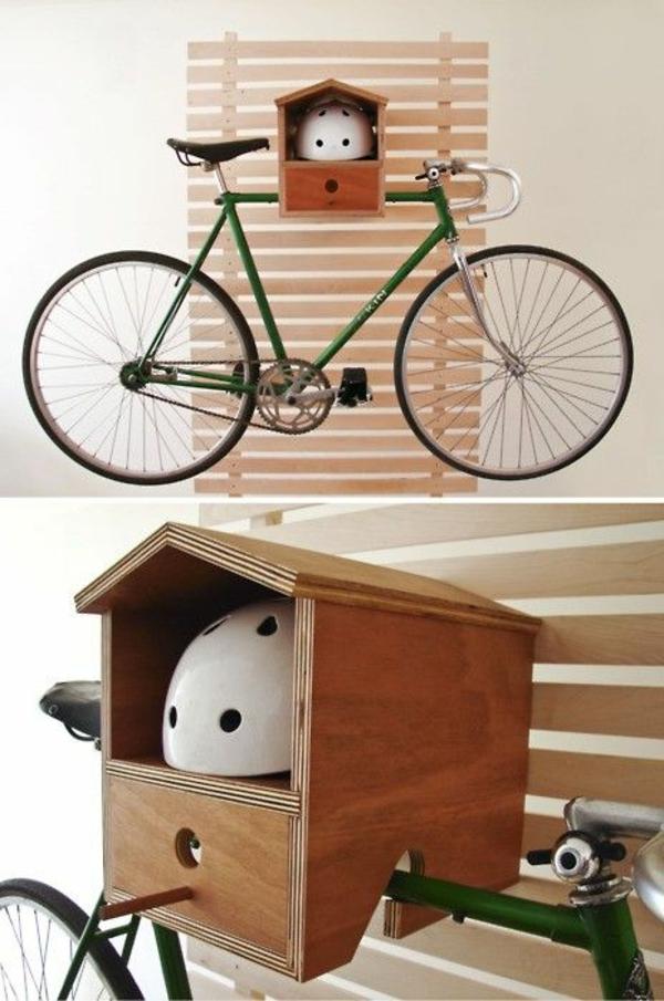 fahrrad ständer ideen zubehör aufbewahren