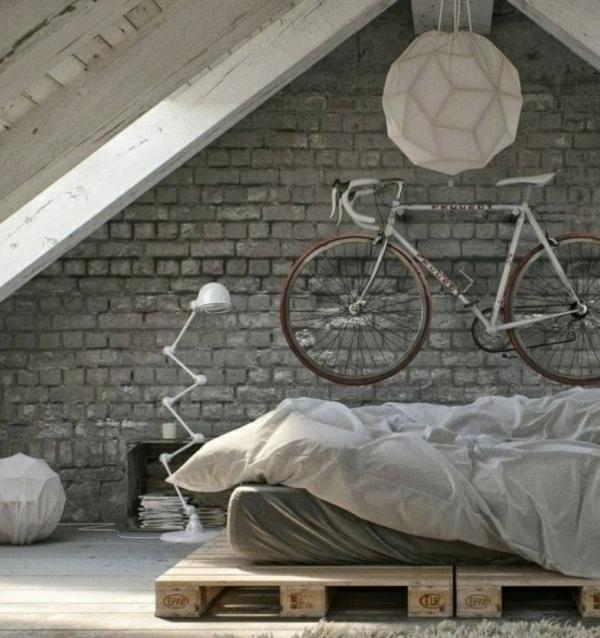 fahrrad ständer schlafzimmer wand aufhängen