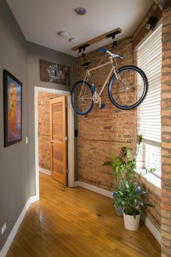 fahrrad wandhalterung zuhause decke hängend
