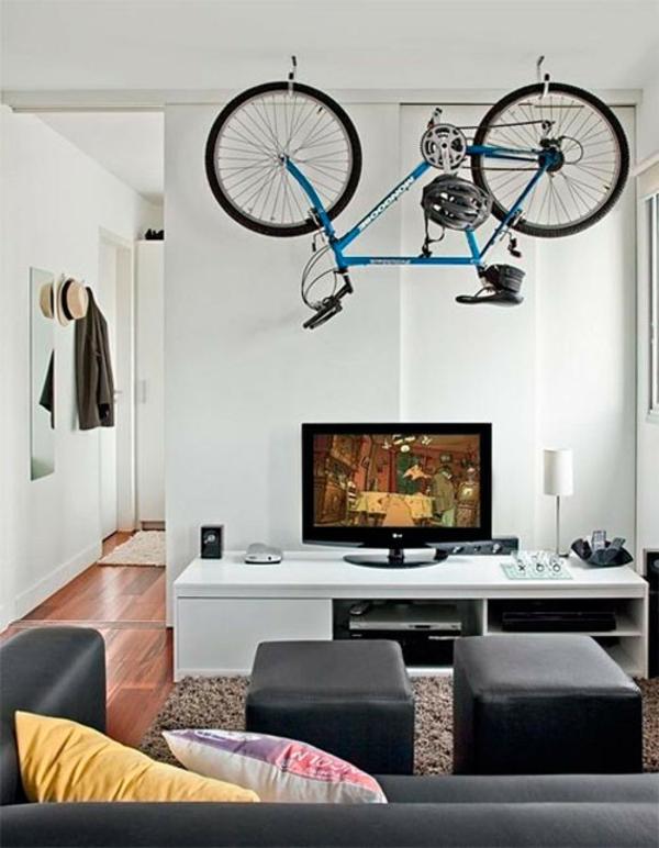 fahrrad ständer zuhause wohnzimmer raumsparend