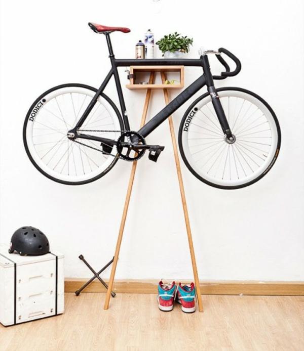 fahrrad ständer raum sparen zuhause dekorieren