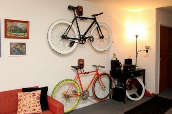 fahrrad wandhalterung wohnzimmer raum ausnutzen