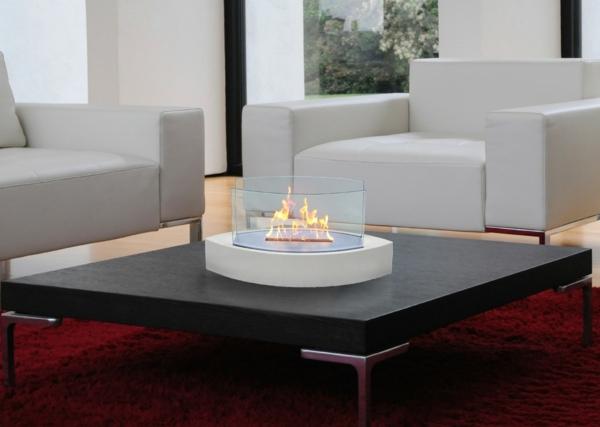 feuerstelle couchtisch quadratisch designer möbel