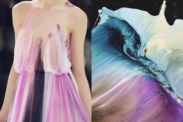 fine art fotografie designer fashion kleid gemälde