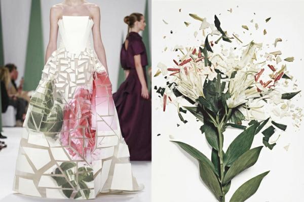 kunst fotografie designer kleid lilium weiß