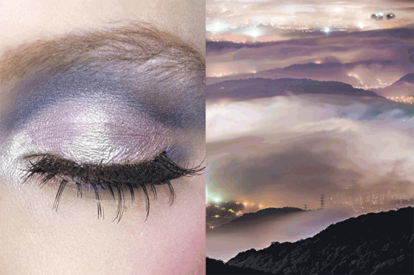 fine art fotografie dunst stadtpanorama silberner glanz makeup