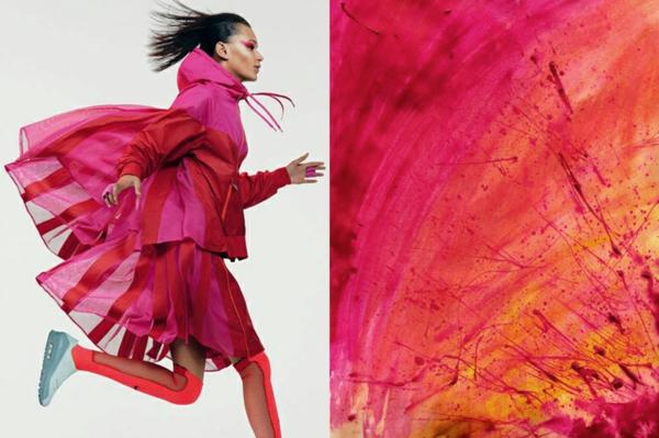 fine art fotografie fashion design farbspritzer