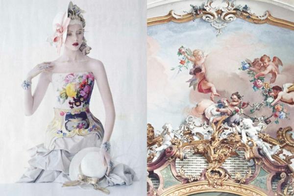 fine art fotografie wandmalerei renaissance kleid