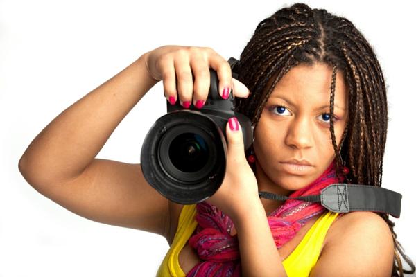 foto kamera professionelle kamera frau