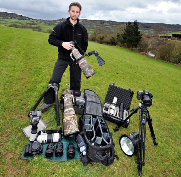 fotokamera volle ausrüstung professionell