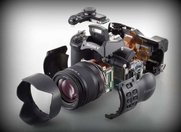 foto kamera sony professionell bestandteile