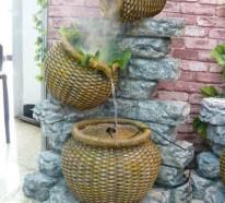 Wie Sie einen originellen Gartenbrunnen selber bauen können
