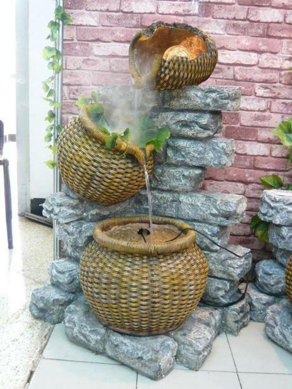 Gartenbrunnen selber bauen 17 einfache und originelle for Fuentes decorativas de interior