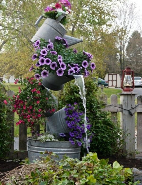 gartenbrunnen selber bauen: 17 einfache und originelle ideen zur, Gartenarbeit ideen