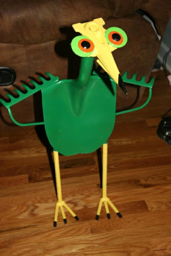 gartendeko schöne bastelideen vogel gartenzubehör
