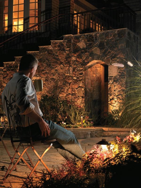 gartengestaltung beleuchtung garten erholungsplatz nachts