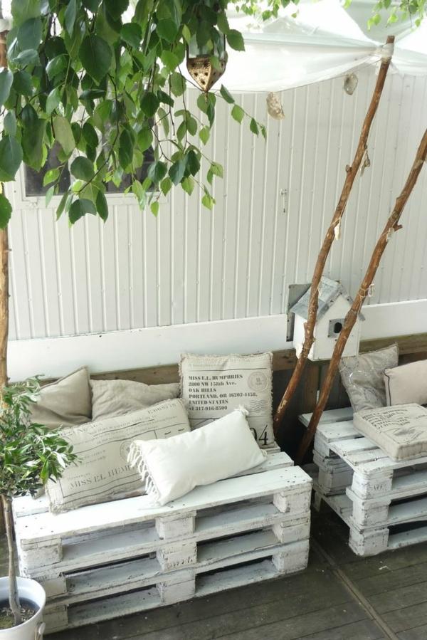 gartenmöbel aus paletten außenbereich gestalten diy möbel