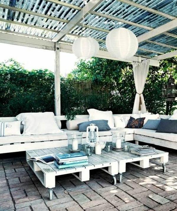 gartenmöbel aus paletten entspannungsecke ideen diy möbel