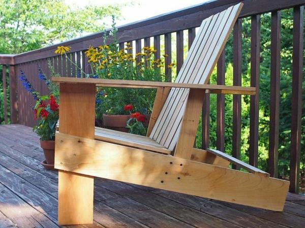 gartenmöbel aus paletten gartenstuhl selber bauen terrasse ausstatten