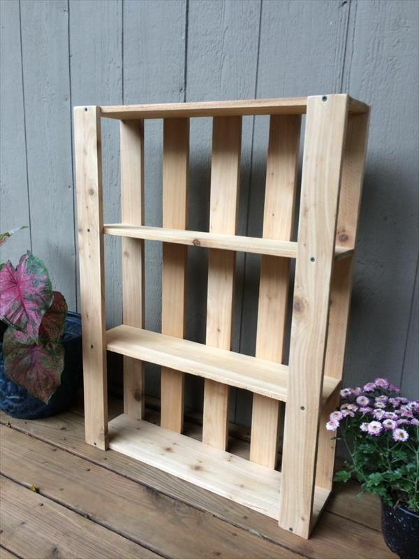 gartenmöbel aus paletten holzregal für topfblumen selber bauen