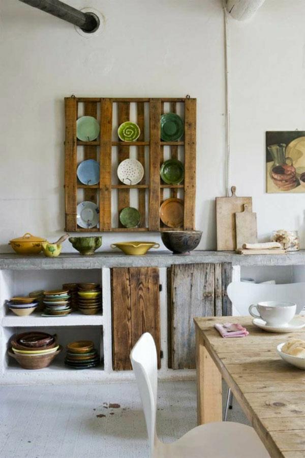 gartenmöbel aus paletten outdoor küche küchenregale europaletten