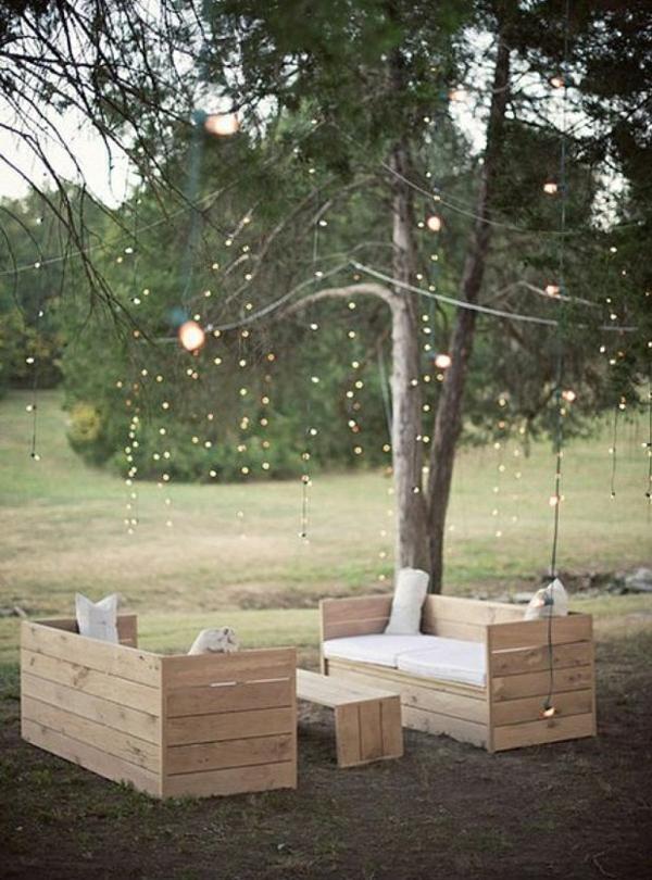 gartenmöbel aus paletten romantische entspannungsecke