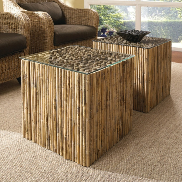 Gartenmobel Zebra Outlet : Elegante Designer Möbel BambusSofa und zwei Sessel dazu