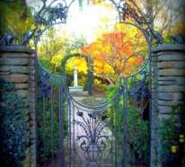 Gartentüren Designs für eine zauberhafte Gartengestaltung
