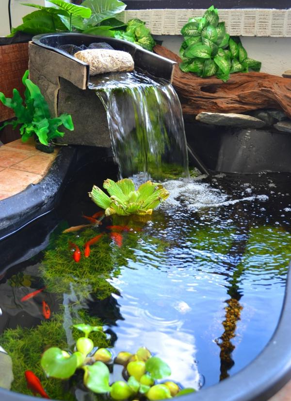 Mini Gartenteich Bauen - Kleine Oasen Im Garten Oder Auf Dem Balkon Miniteich Anlegen Eine Kleine Oase Auf Dem Balkon