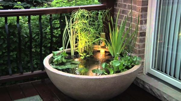 mini gartenteich bauen - kleine oasen im garten oder auf dem balkon,