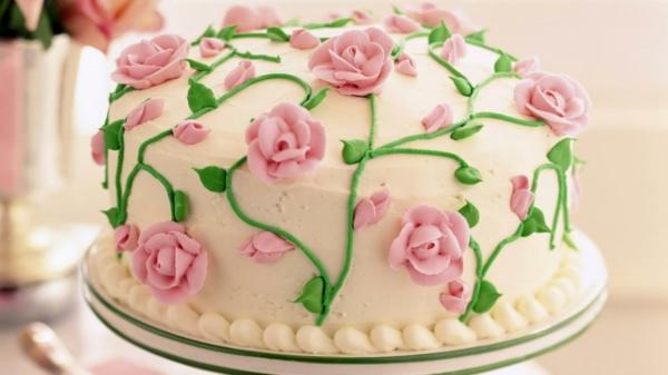geburtstagstorte kindergeburtstag zarte rosen
