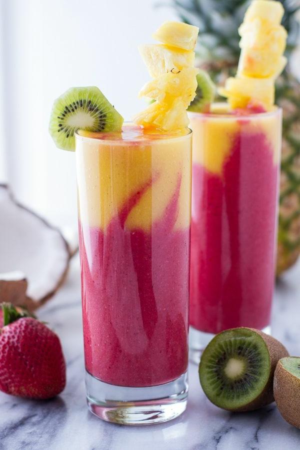 gesunde frühstücksideen smoothies trinken