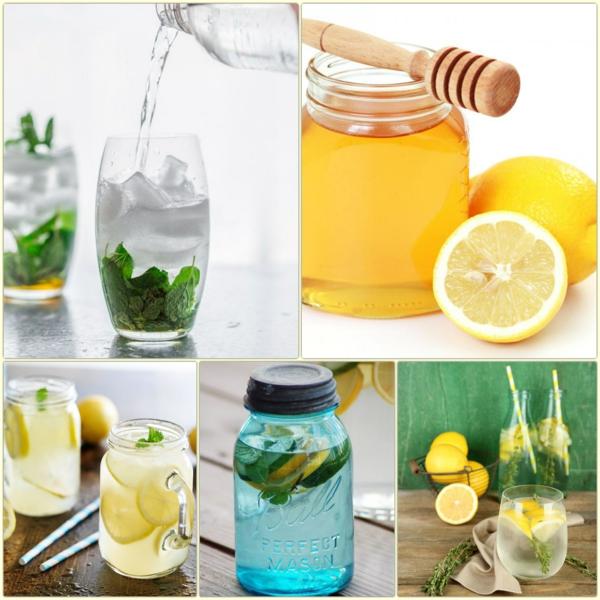 gesundes wasser mit zutrone honig heiß