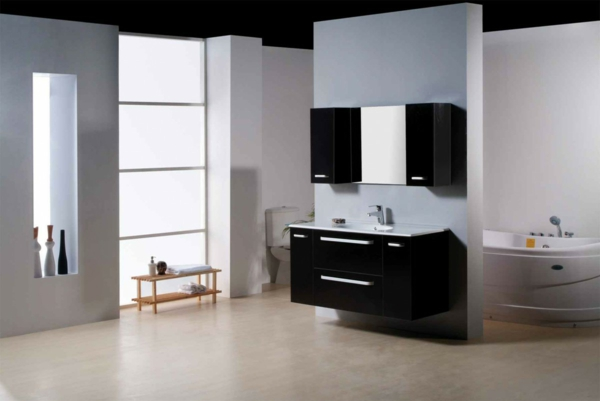 badezimmer bodenbelag ideen inspiration. Black Bedroom Furniture Sets. Home Design Ideas