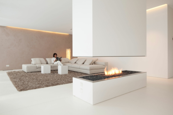 granitfliesen verlegen bodenbelag ideen wohnzimmer kamin teppich