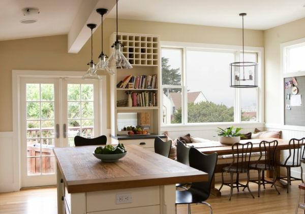 hängelampen glas lampenschirm esstisch küche