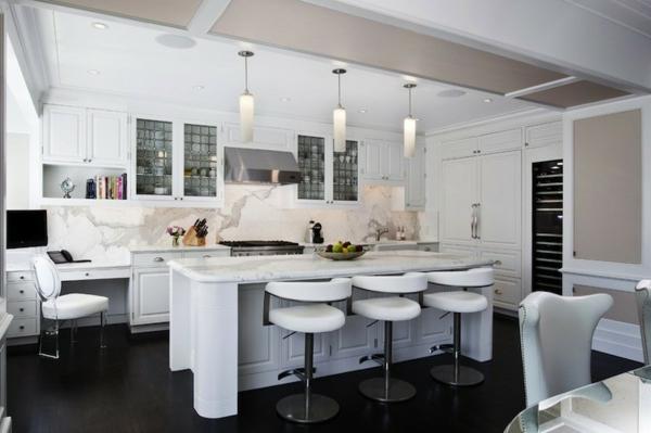 hängelampen küche kücheninsel elegantes design