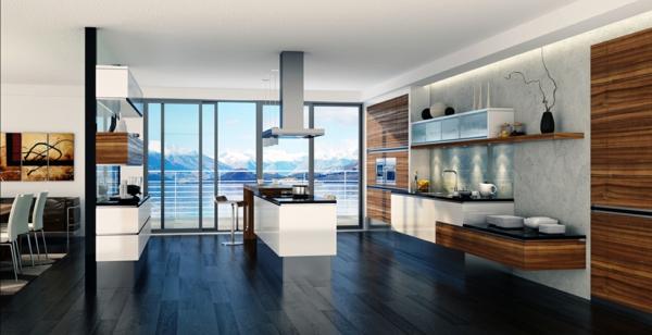 küche offen | jtleigh.com - hausgestaltung ideen. design : küche ... - Wohnzimmer Regal Modern